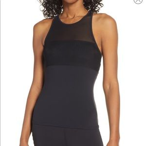 ❤️Alo Tank Sheer Mesh with Cross Straps